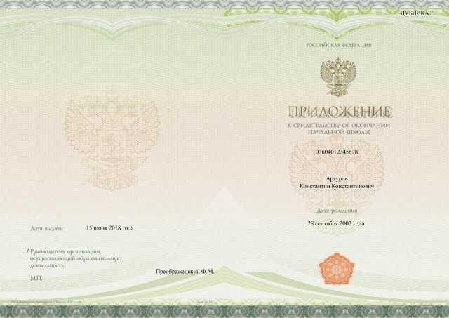 Заполненное приложение Киржачской типографии